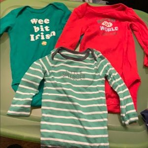 3 long sleeve onesies size 6 months.